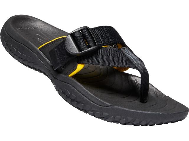 Keen Solr Toe Post Sandals Men, black/gold